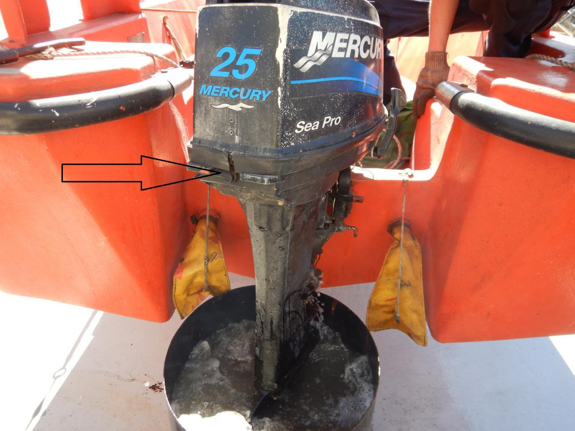 Lynx rescue boat engine defective cooling system