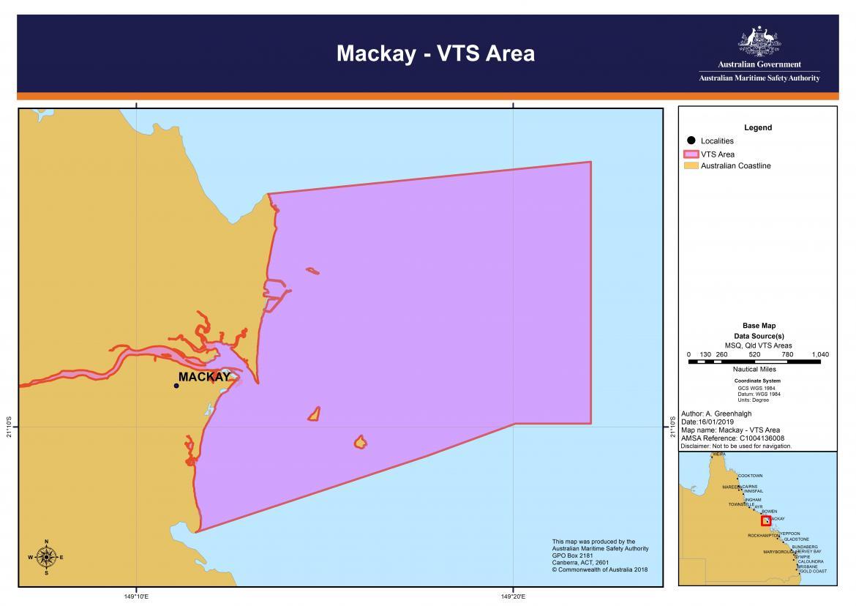 Mackay VTS chart