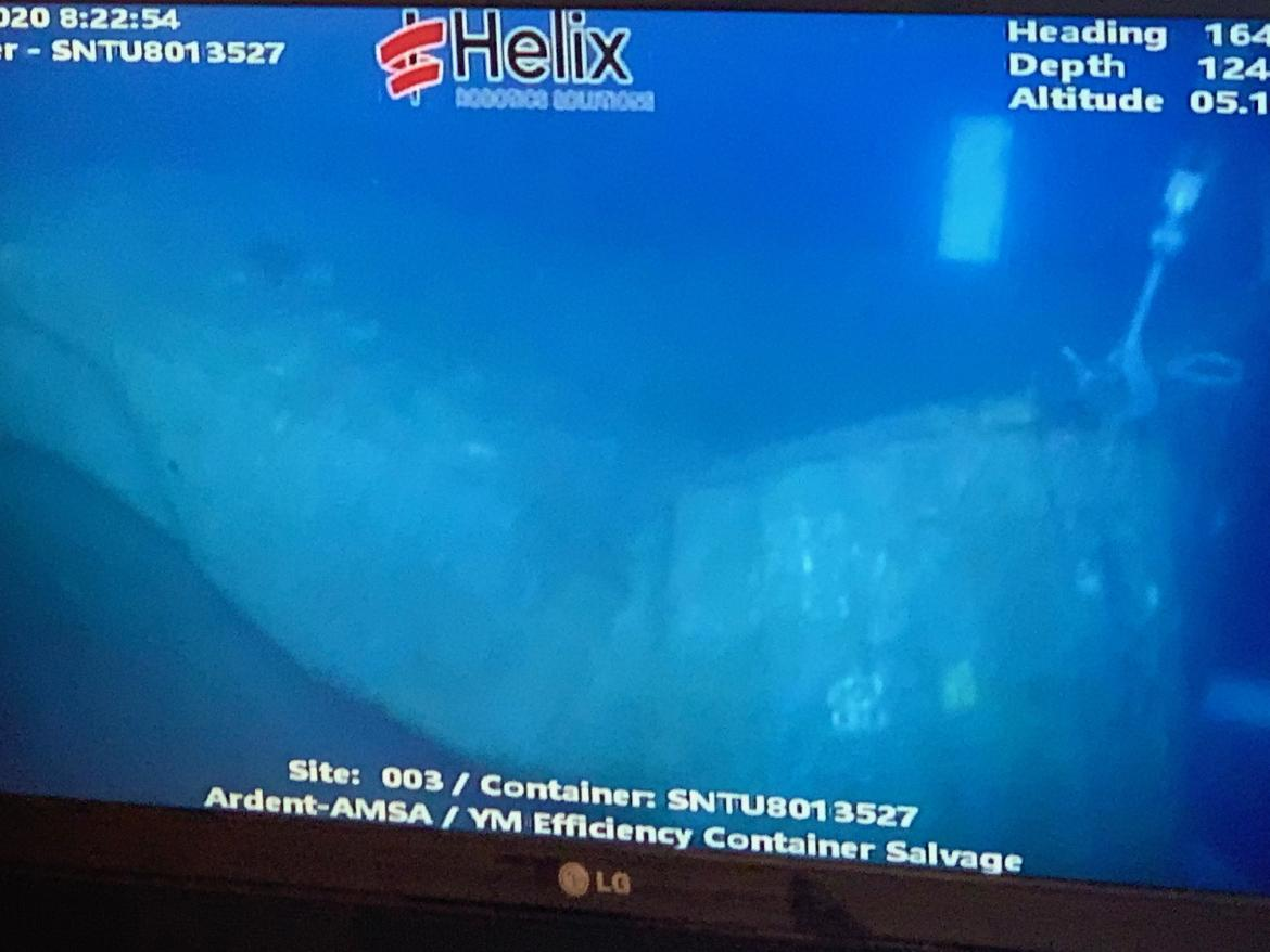 ROV on the sea bed