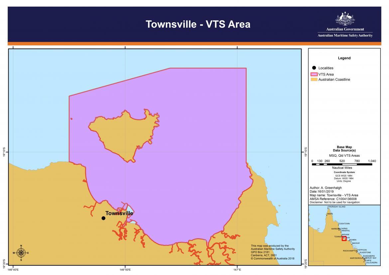 Townsville VTS chart