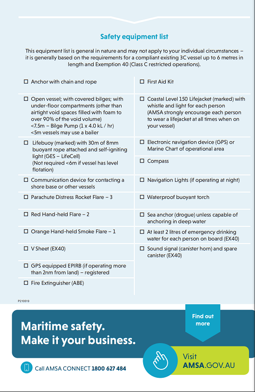 TIB checklist