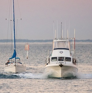 yachts travelling